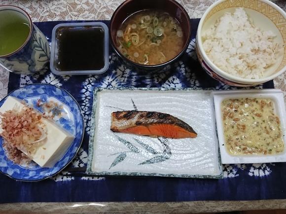 1/20 焼塩鮭定食@自宅_b0042308_06370452.jpg