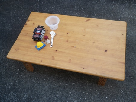 汚れて湾曲したテーブルの修理(1)_b0312424_20090417.jpg