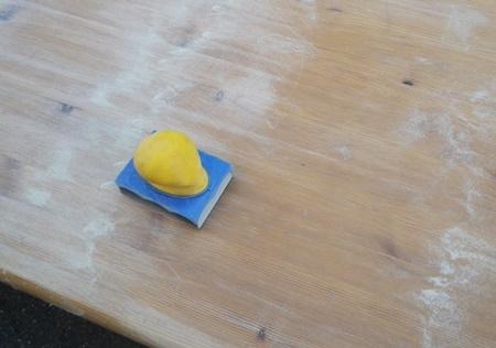 汚れて湾曲したテーブルの修理(1)_b0312424_20090582.jpg