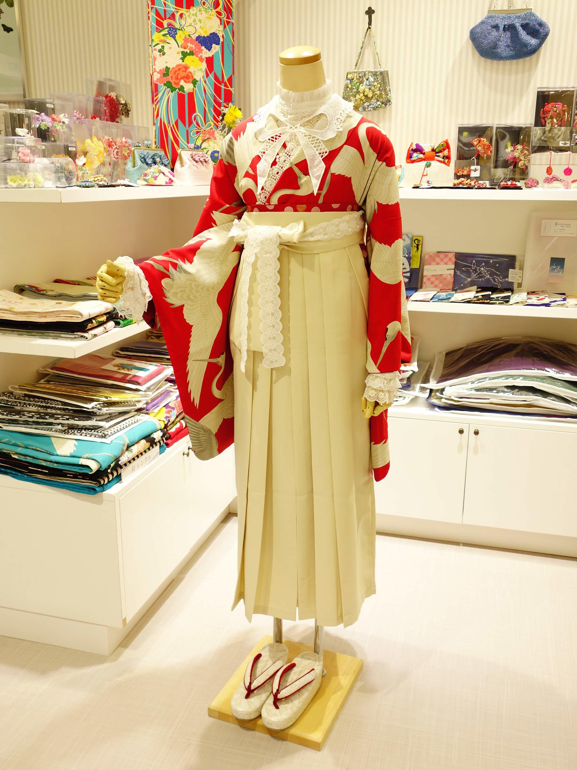 鶴赤2尺着物の袴コーデ紹介_e0167832_15525412.jpg