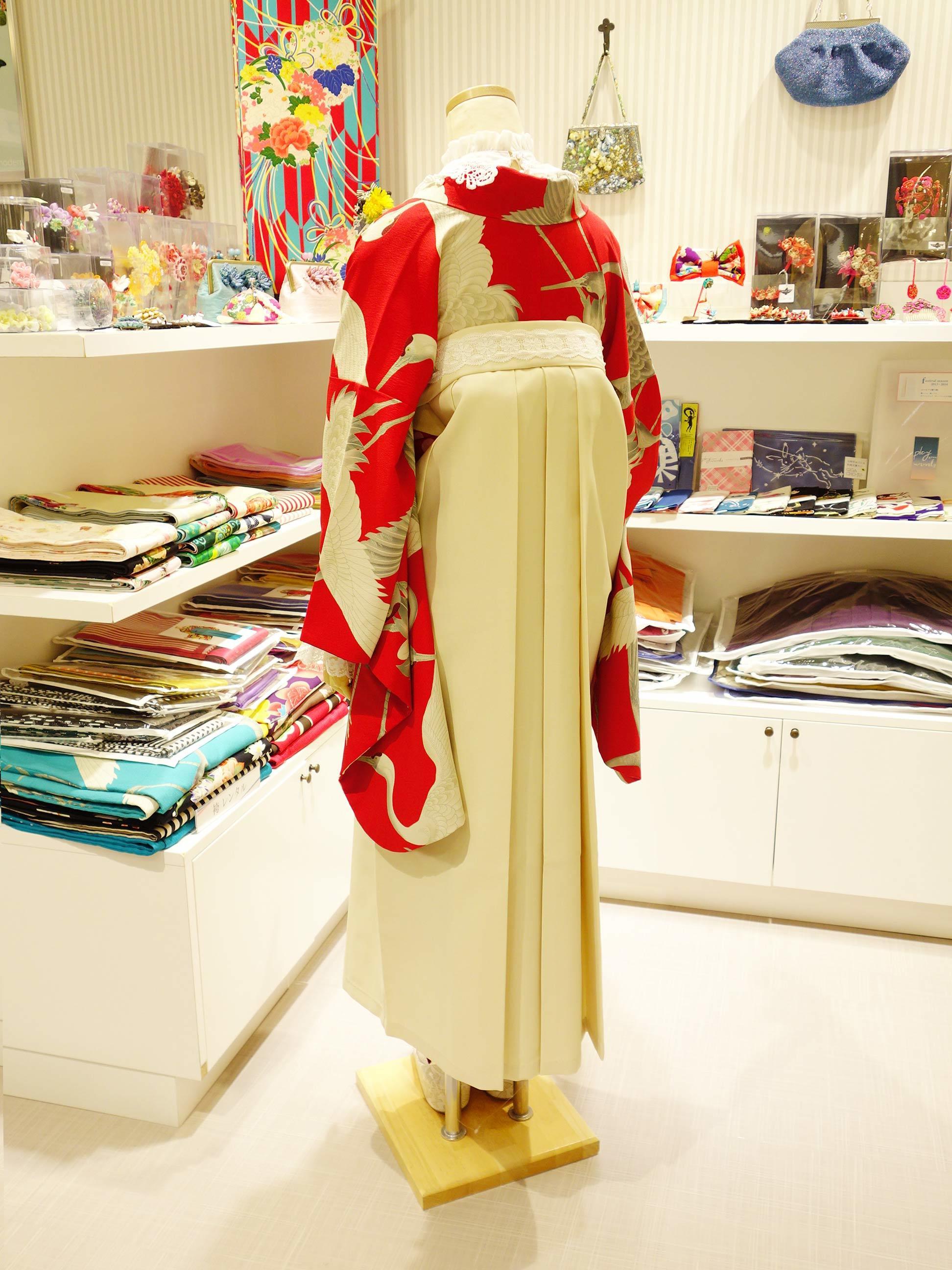 鶴赤2尺着物の袴コーデ紹介_e0167832_15530468.jpg