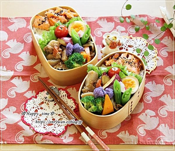 鮭弁当と角食♪_f0348032_17480526.jpg
