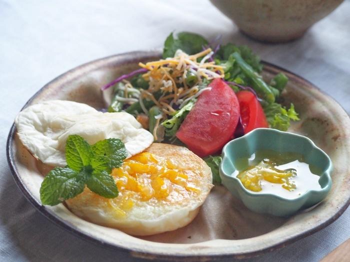 牡蠣のクリーム煮朝ごはん_b0277136_08460390.jpeg