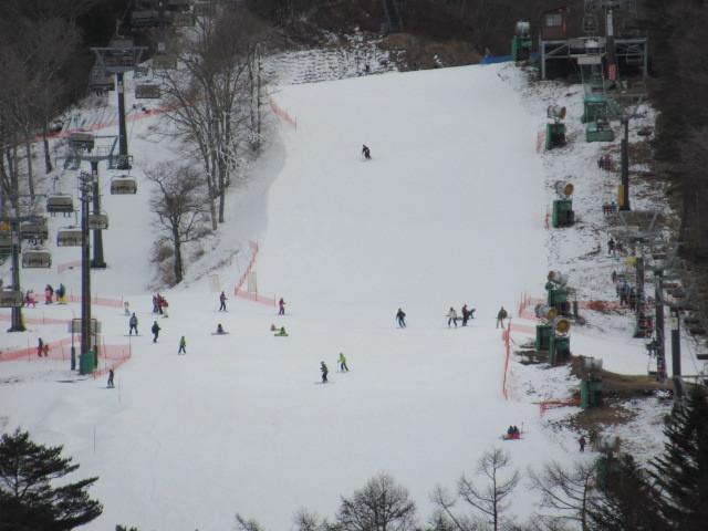 暖かい大寒の日 * 浅間山の冠雪と軽井沢駅からのプリンススキー場_f0236260_17341112.jpg