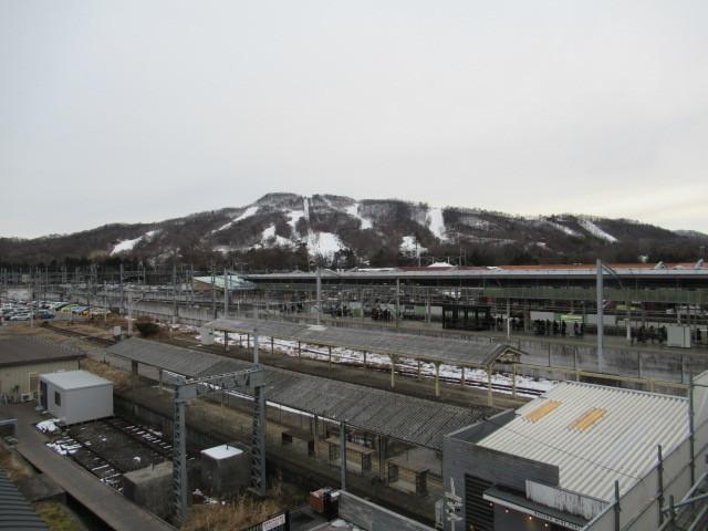 暖かい大寒の日 * 浅間山の冠雪と軽井沢駅からのプリンススキー場_f0236260_17343887.jpg