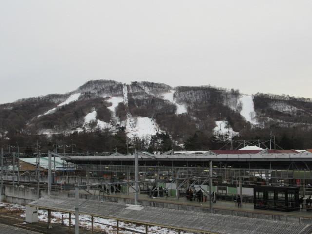 暖かい大寒の日 * 浅間山の冠雪と軽井沢駅からのプリンススキー場_f0236260_17350116.jpg