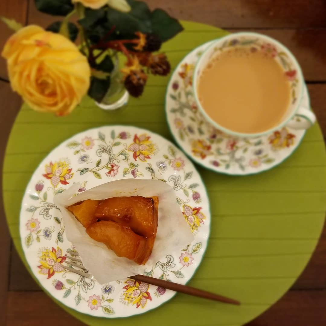 1月の Cafe Patra * 柿の和風パフェ&金柑のタルトレット&タルトタタン♪_f0236260_18341758.jpg