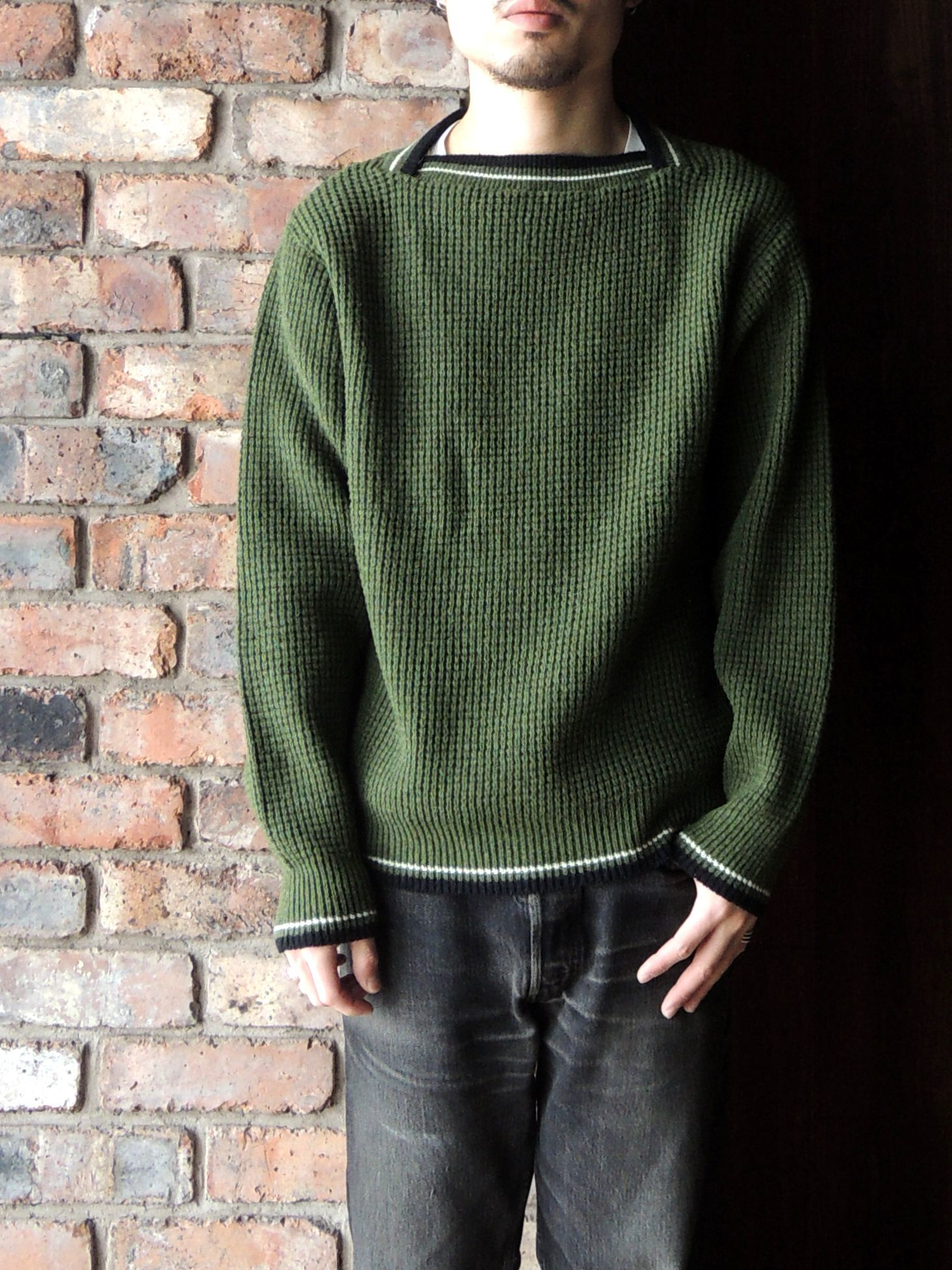 50S PENNEY\'S TOWN CRAFT WOOL KNIT SWEATER--RECOMMEND--_d0334976_14325530.jpg