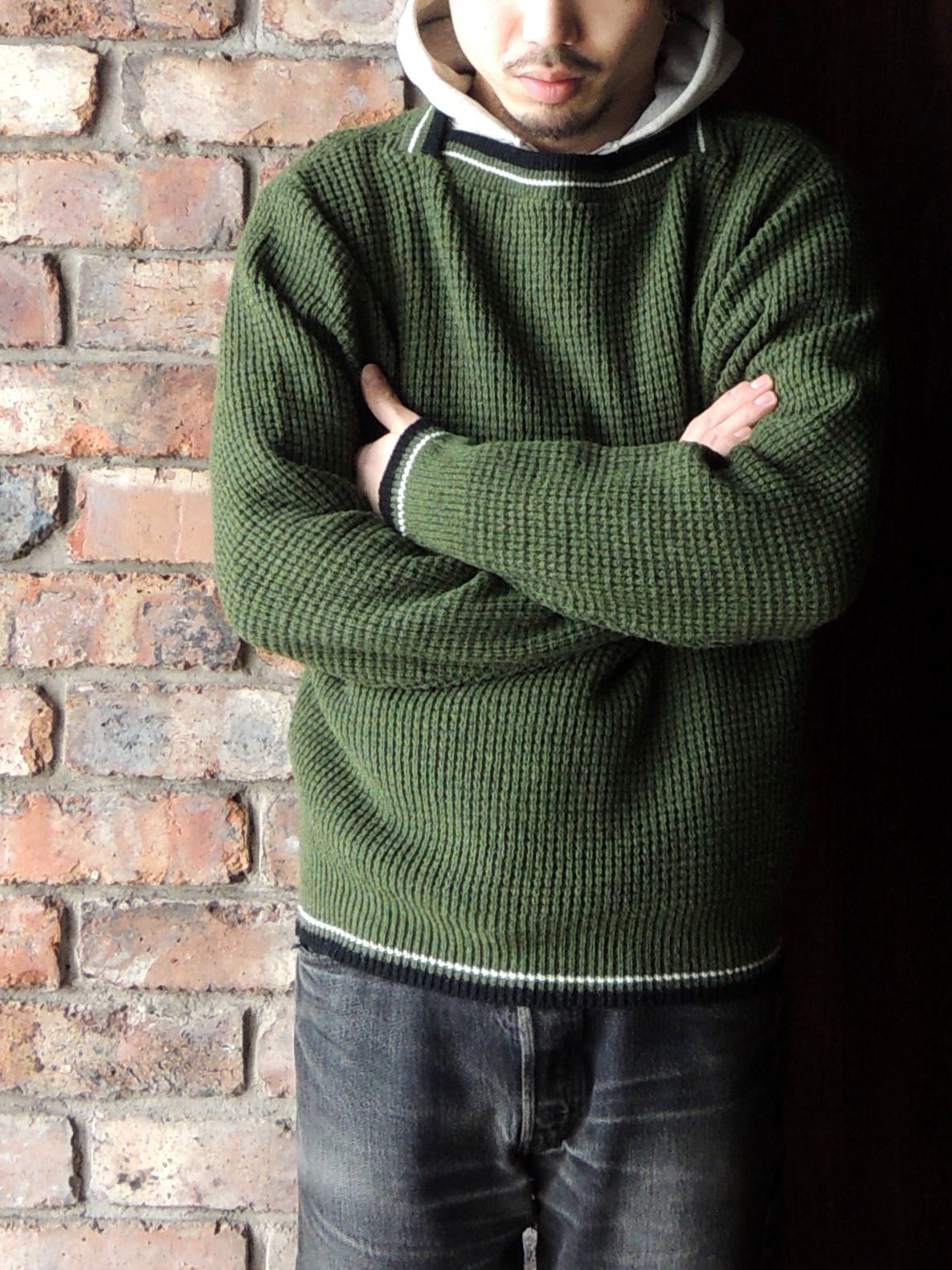 50S PENNEY\'S TOWN CRAFT WOOL KNIT SWEATER--RECOMMEND--_d0334976_14351680.jpg