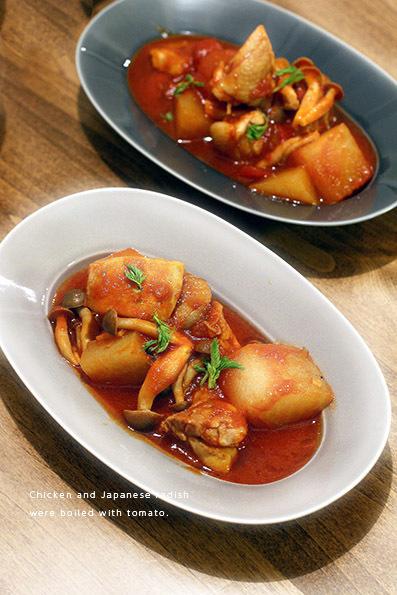 チキンと大根のトマト煮_e0137277_21055267.jpg