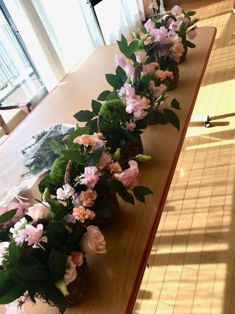 新春アレンジメント@ケアハウス_d0144095_10420718.jpg