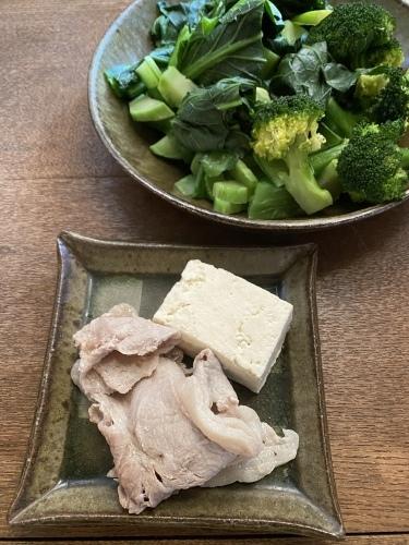 蒸し豚と野菜の朝食_d0122797_14394294.jpeg