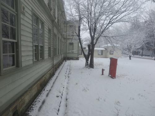 重文本館からの雪景色 2020.1.21 午前_c0075701_14080908.jpg