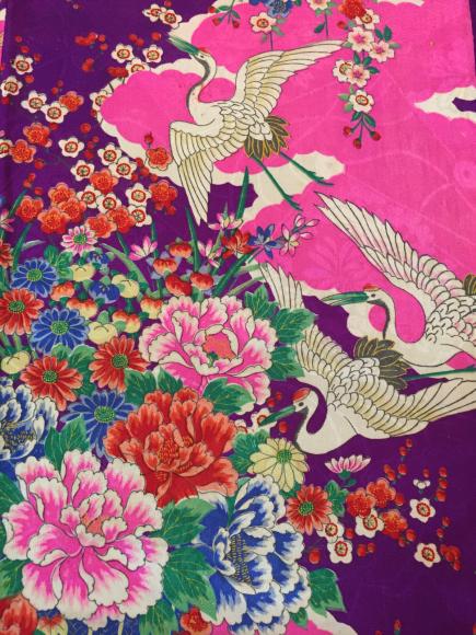 1/29より!新宿伊勢丹「大正ロマン百貨店」紫ピンク花と鶴着物×ピンク水色縞花帯♪販売商品7_c0321302_10563244.jpg