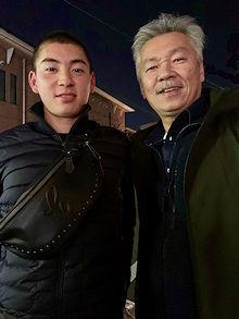 冬季練習中の息子と_e0103024_23200824.jpg