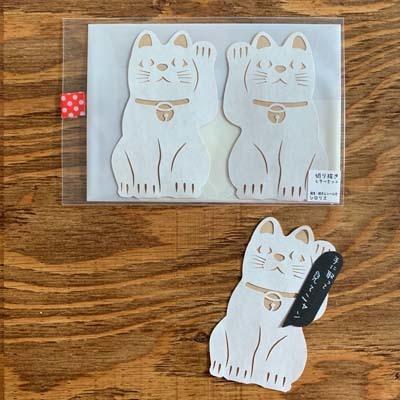招き猫レターセット_d0171830_19282256.jpg
