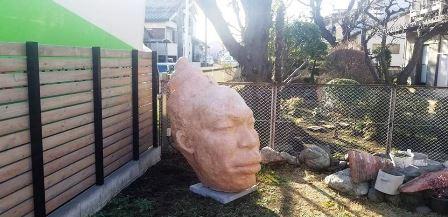 作業日誌(巨大頭彫刻像運搬設置)_c0251346_13240447.jpg