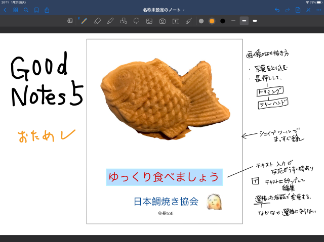 ノートアプリ、Good Notes5 のお試し_d0101846_20115555.png