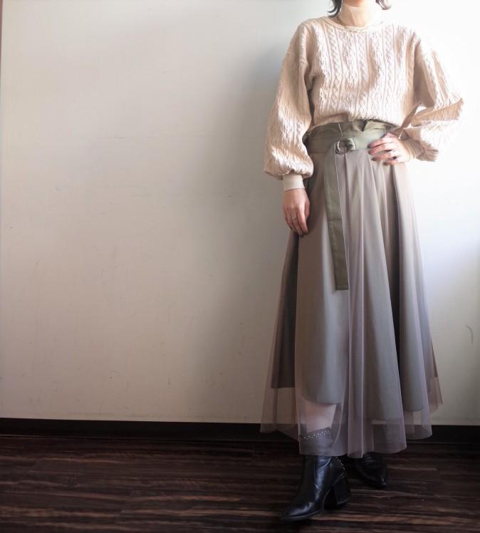 LEFUA LEA☆ツイル×チュールリバーシブルスカート☆_e0269968_17285431.jpg