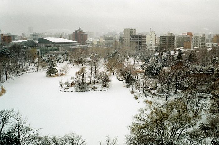 中島公園の雪景色_c0182775_1722296.jpg