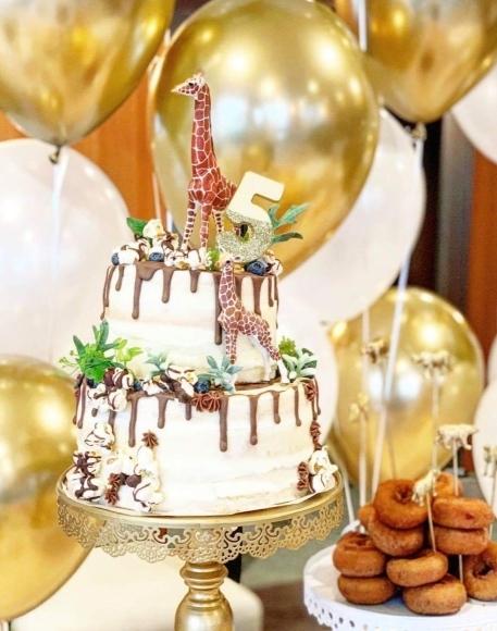 2020年最初の2段ケーキは、サファリ_d0339705_16160333.jpg