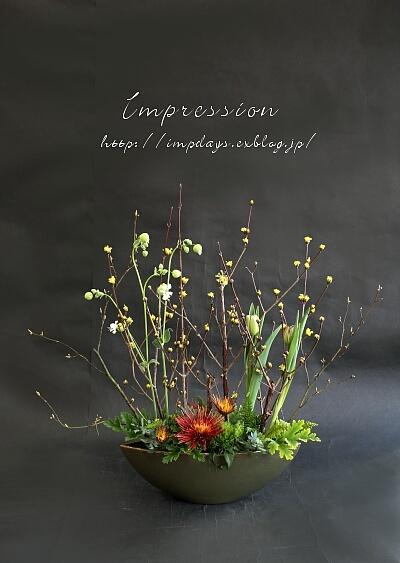 定期装花から スプレーマム:チスパ_a0085317_15553176.jpg