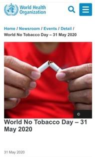 タバコラム118. 禁煙の日にひとこと(100)〜2020年の世界禁煙デースローガンは?〜_d0128520_15483043.jpg