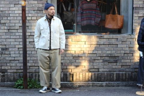 「WORKERS」 Engineer Jacket, White Denim, Sanforized ご紹介_f0191324_08241512.jpg