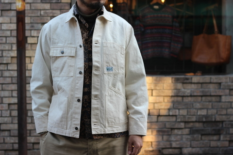 「WORKERS」 Engineer Jacket, White Denim, Sanforized ご紹介_f0191324_08242704.jpg