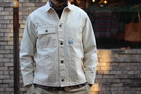 「WORKERS」 Engineer Jacket, White Denim, Sanforized ご紹介_f0191324_08243339.jpg