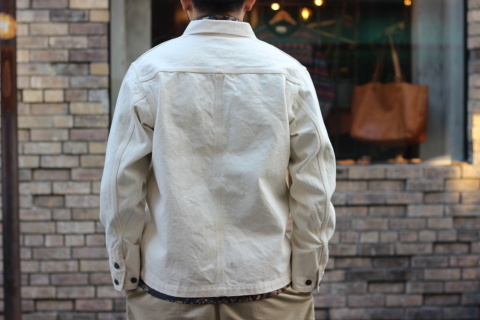 「WORKERS」 Engineer Jacket, White Denim, Sanforized ご紹介_f0191324_08244601.jpg