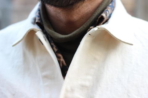 「WORKERS」 Engineer Jacket, White Denim, Sanforized ご紹介_f0191324_08245766.jpg