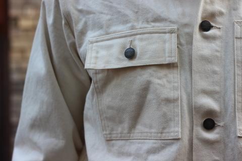 「WORKERS」 Engineer Jacket, White Denim, Sanforized ご紹介_f0191324_08251652.jpg