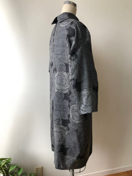着物着物リメイク・ 大島紬からコクーンワンピース_d0127925_09263062.jpg
