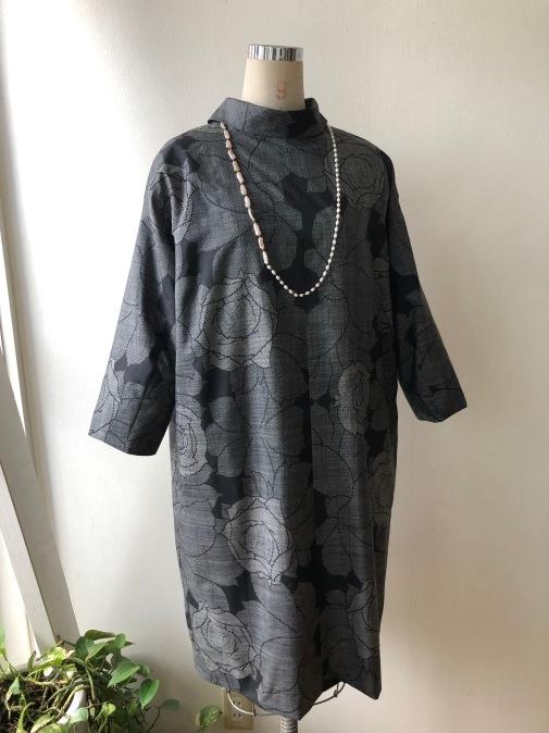 着物着物リメイク・ 大島紬からコクーンワンピース_d0127925_09263579.jpg