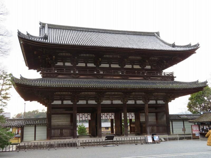 仁和寺の仁王門20200122_e0237645_16365317.jpg