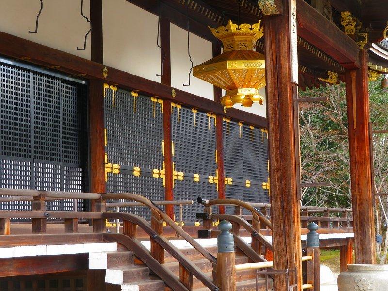 仁和寺の金堂伽藍模様20200122_e0237645_16501578.jpg