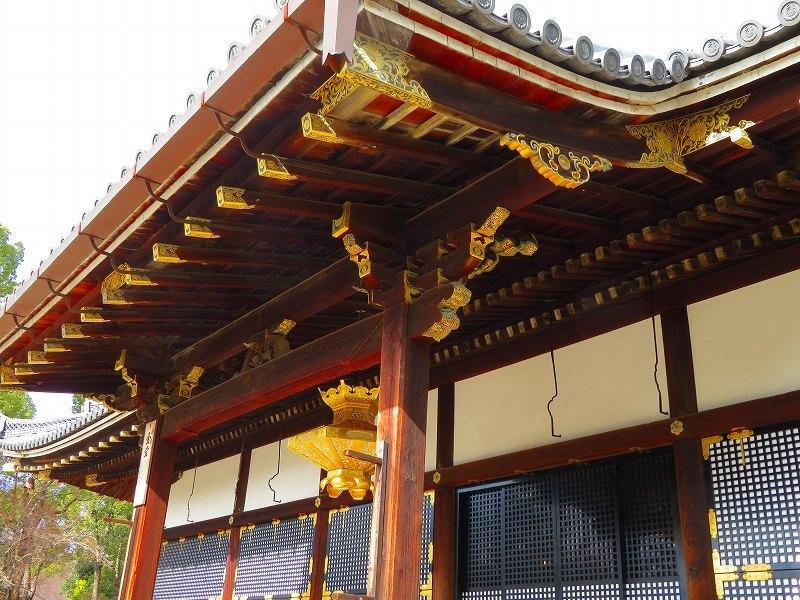 仁和寺の金堂伽藍模様20200122_e0237645_16501661.jpg