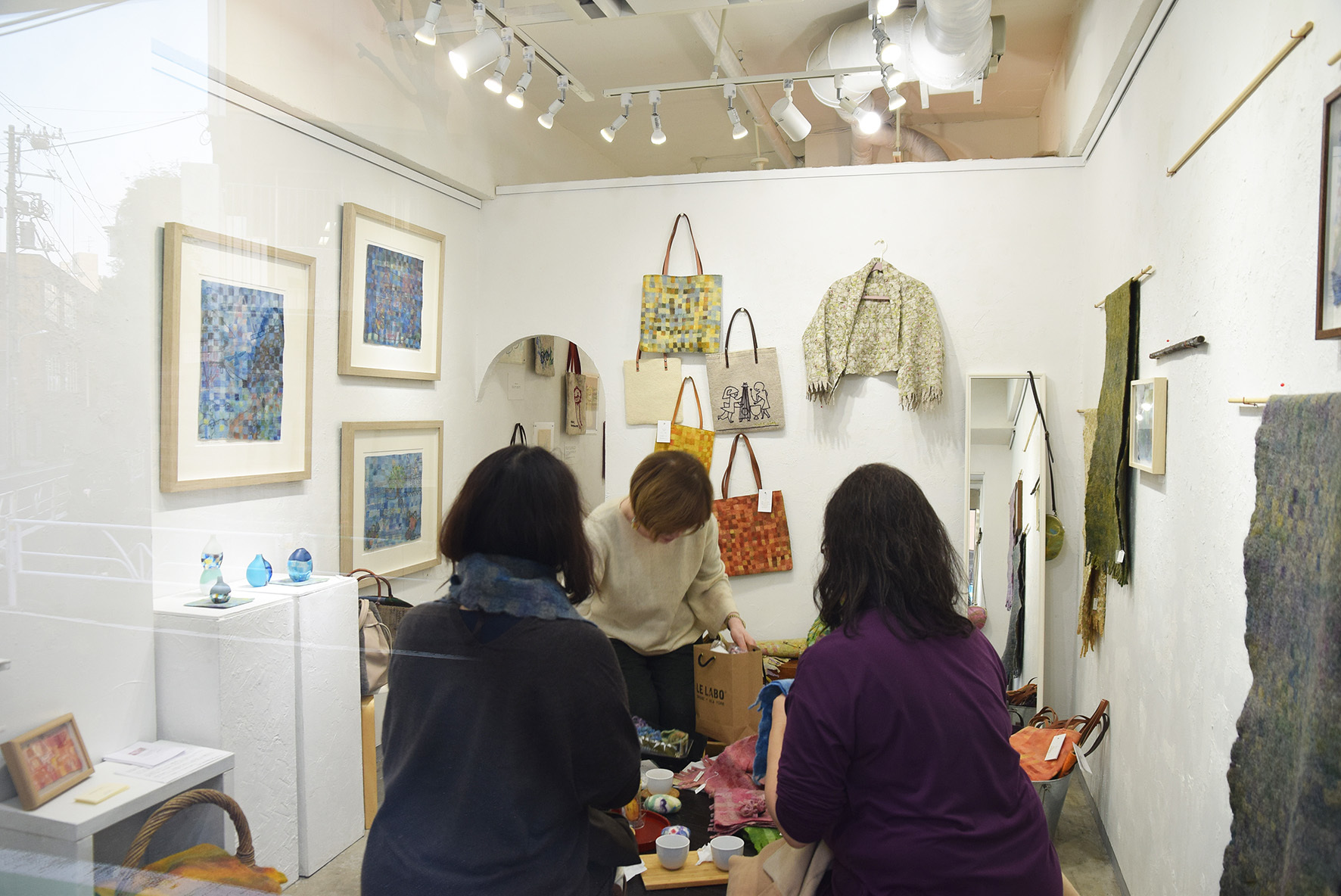 MOSAIC FELT Kokuga Rumi exhibition @ 最終日_e0272050_20164061.jpg