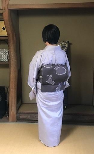ゴールデンムガ+兎帯・千地泰弘着物&帯。_f0181251_15112171.jpg