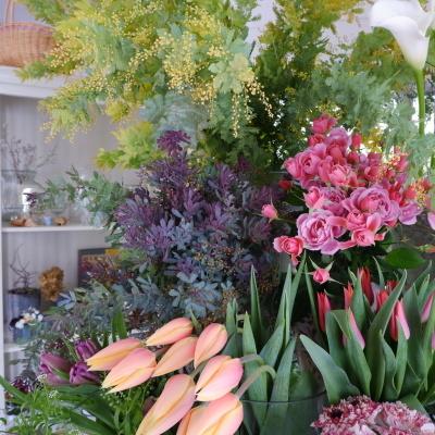 オークリーフ(今日のお店の花たち)_f0049672_16302829.jpg