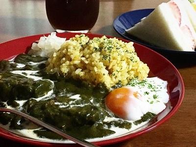 葉物野菜が安い!ほうれん草カレーとオートミールとカカオのビスケット_f0231189_19560189.jpg