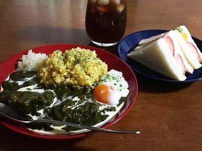 葉物野菜が安い!ほうれん草カレーとオートミールとカカオのビスケット_f0231189_19560919.jpg