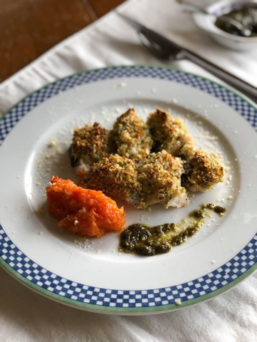 鱈のバジルパン粉焼き トマトソース添え_f0361692_20284130.jpg