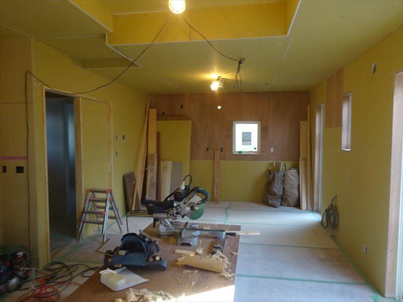 滝沢 穴口の家 大工工事進行中。_f0105112_04034044.jpg