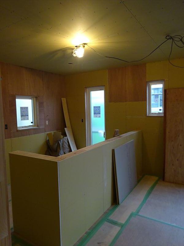 滝沢 穴口の家 大工工事進行中。_f0105112_04100030.jpg