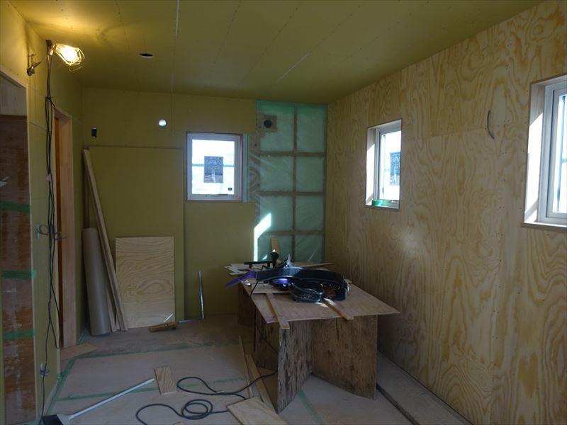 滝沢 穴口の家 大工工事進行中。_f0105112_04100039.jpg