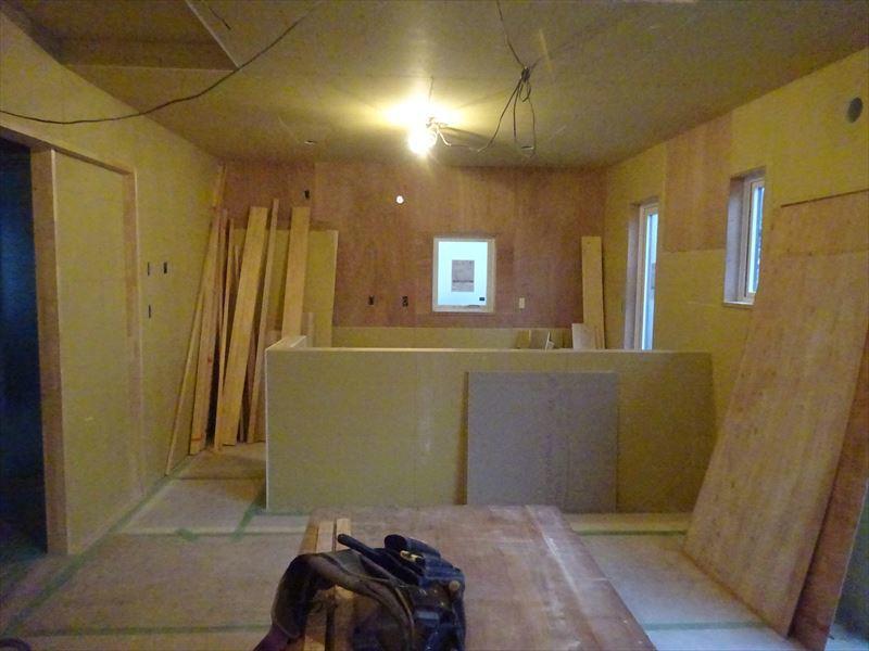 滝沢 穴口の家 大工工事進行中。_f0105112_04100096.jpg