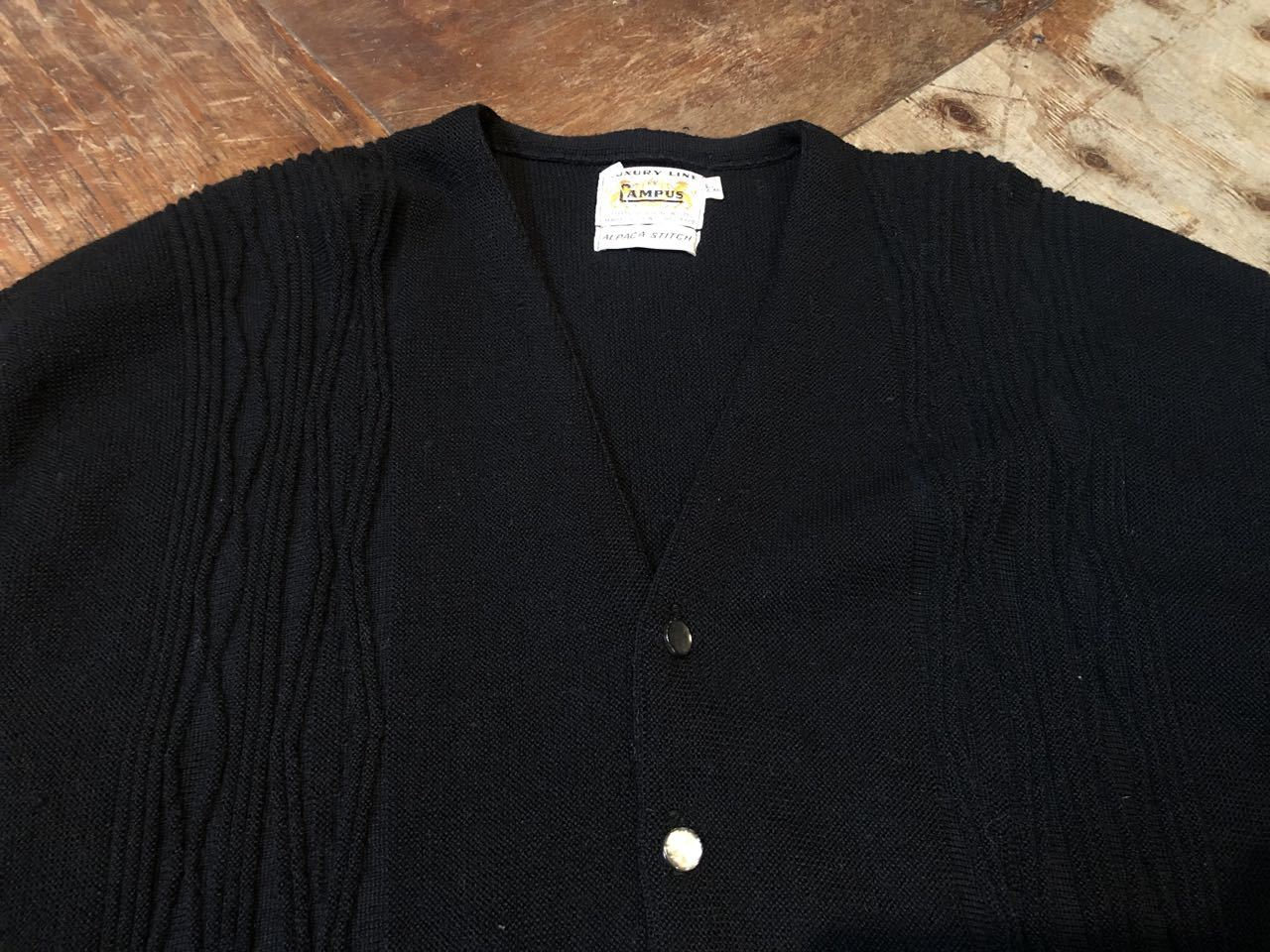 1月23日(木)入荷! 60s all virgin wool CAMPUS BLACK Cardigan !!_c0144020_13033578.jpg