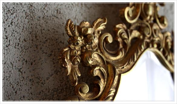 miroir mural 古い壁掛け鏡 ミラー フランスアンティーク_d0184921_16304243.jpg